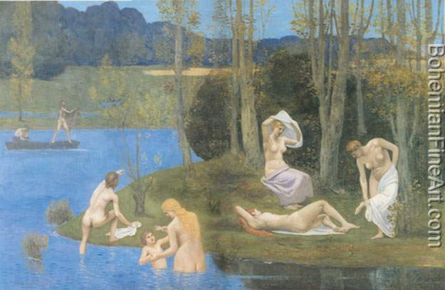 Pierre Puvis de Chavannes, Summer Fine Art Reproduction Oil Painting