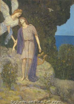 Pierre Puvis de Chavannes, Orpheus Fine Art Reproduction Oil Painting