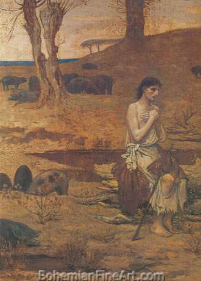 Pierre Puvis de Chavannes, The Prodigal Son Fine Art Reproduction Oil Painting