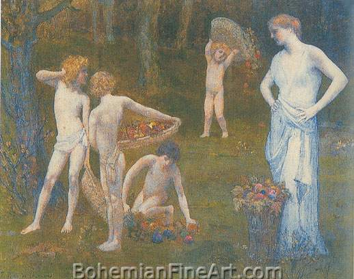 Pierre Puvis de Chavannes, Autumn Fine Art Reproduction Oil Painting