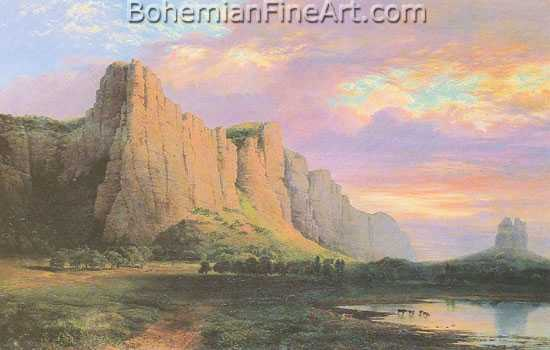 Nicholas Chevalier, Mount Aripiles and the Mitre Rock Fine Art Reproduction Oil Painting