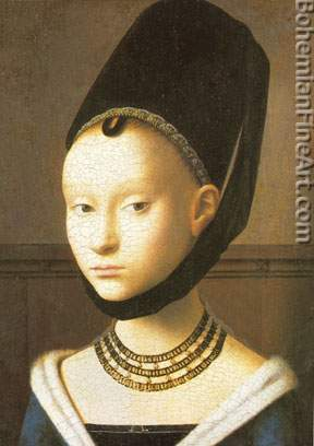 Petrus Christus, Portrait of a Young Girl Fine Art Reproduction Oil Painting