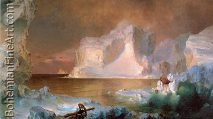 Frederic Edwin Church, The Icebergs Fine Art Reproduction Oil Painting