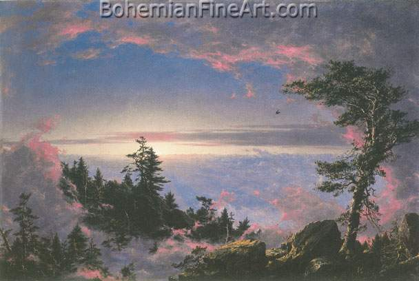 Frederic Edwin Church, Above the Clouds at Sunrise Fine Art Reproduction Oil Painting