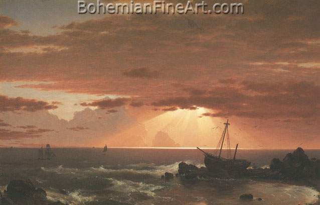 Frederic Edwin Church, The Wreck Fine Art Reproduction Oil Painting