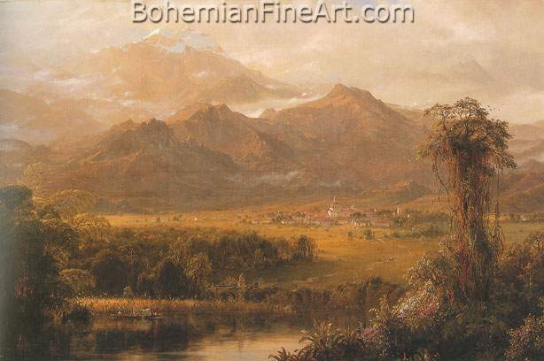 Frederic Edwin Church, Mountains of Ecuador (Tropical Morning) Fine Art Reproduction Oil Painting