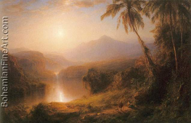 Frederic Edwin Church, Valley of Santa Ysabel Fine Art Reproduction Oil Painting