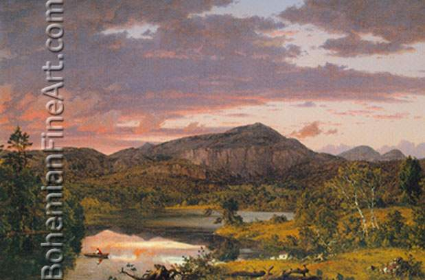 Frederic Edwin Church, Lake Scene in Mount Desert Island Fine Art Reproduction Oil Painting