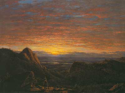 Frederic Edwin Church, Morning Looking East over Hudson Valley Fine Art Reproduction Oil Painting
