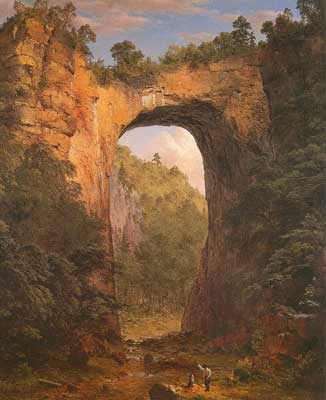 Frederic Edwin Church, The Natural Bridge, Virginia Fine Art Reproduction Oil Painting