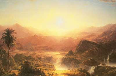 Frederic Edwin Church, The Andes of Ecuador Fine Art Reproduction Oil Painting