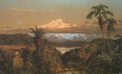 Frederic Edwin Church, Cayambe Fine Art Reproduction Oil Painting