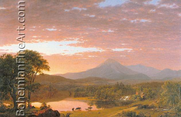 Frederic Edwin Church, Mount Ktaadn Fine Art Reproduction Oil Painting