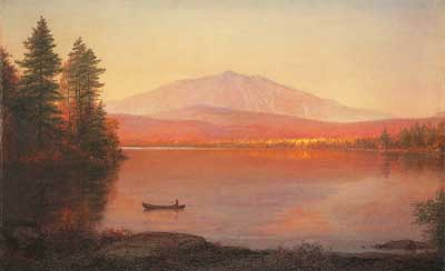 Frederic Edwin Church, Mount Katahdin from Millinocket Camp Fine Art Reproduction Oil Painting