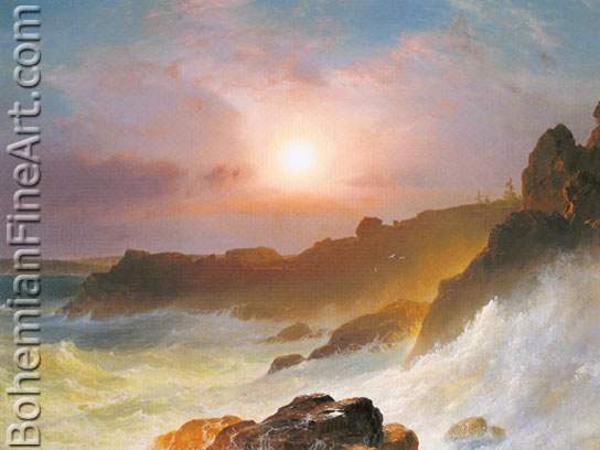 Frederic Edwin Church, Coast Scene Fine Art Reproduction Oil Painting