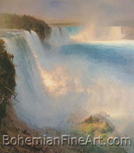 Frederic Edwin Church, Niagara Falls from the American Side Fine Art Reproduction Oil Painting