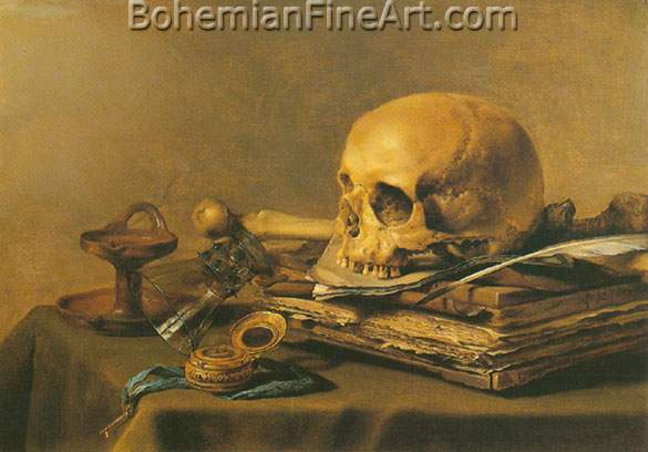Pieter Claesz, Vanitas Still Life Fine Art Reproduction Oil Painting