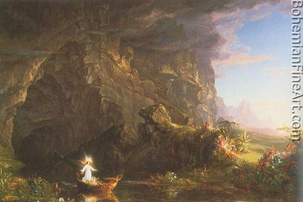 Thomas Cole, The Voyage of Life: Childhood Fine Art Reproduction Oil Painting