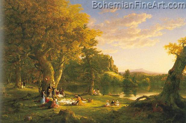 Thomas Cole, The Pic-Nic Fine Art Reproduction Oil Painting