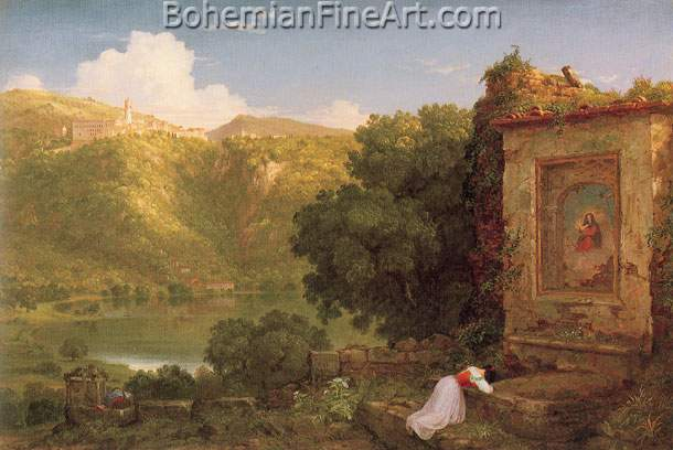 Thomas Cole, Il Penseroso Fine Art Reproduction Oil Painting