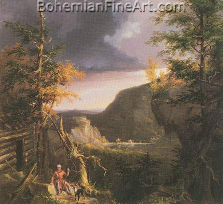 Thomas Cole, Daniel Boone, Great Osage Lake, Kentucky Fine Art Reproduction Oil Painting