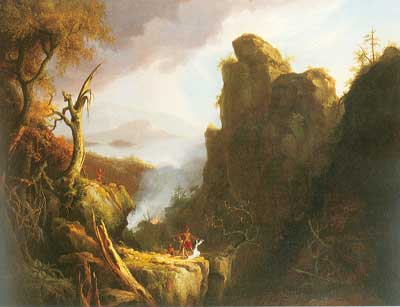 Thomas Cole, Indian Sacrifice Fine Art Reproduction Oil Painting