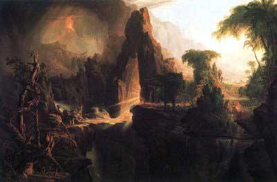 Thomas Cole, Expulsion from the Garden of Eden Fine Art Reproduction Oil Painting