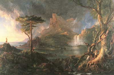 Thomas Cole, A Wild Scene Fine Art Reproduction Oil Painting