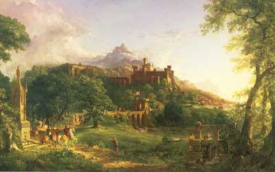 Thomas Cole, The Departure Fine Art Reproduction Oil Painting