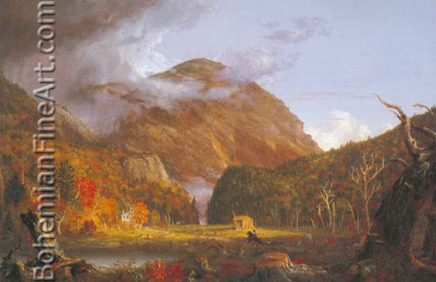 Thomas Cole, Crawford Notch Fine Art Reproduction Oil Painting