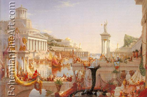 Thomas Cole, The Course of Empire: The Consumation of Empire Fine Art Reproduction Oil Painting