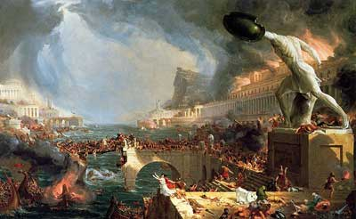 Thomas Cole, The Course of Empire: Destruction Fine Art Reproduction Oil Painting