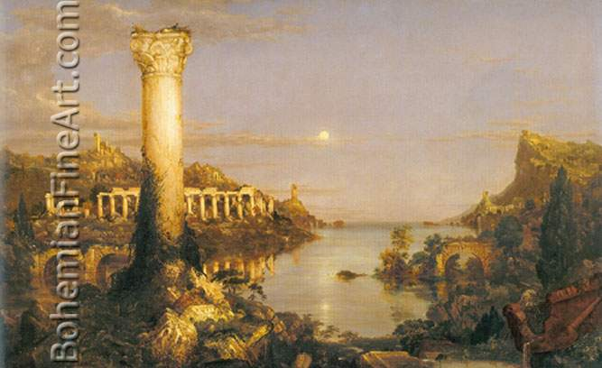Thomas Cole, The Course of Empire: Desolation Fine Art Reproduction Oil Painting