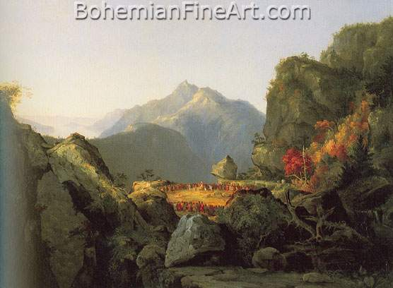 Thomas Cole, Landscape Scene from Last of the Mohicans Fine Art Reproduction Oil Painting