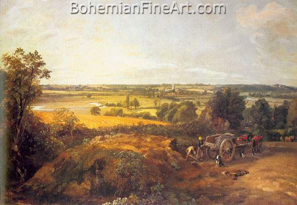 John Constable, View of Dedham (Stour Valley and Village) Fine Art Reproduction Oil Painting