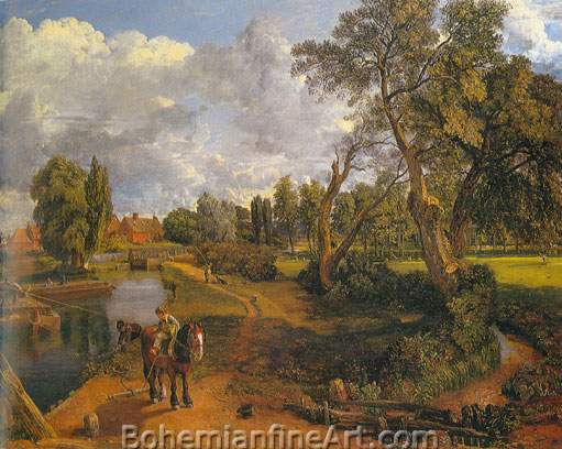John Constable, Flatford Mill Fine Art Reproduction Oil Painting