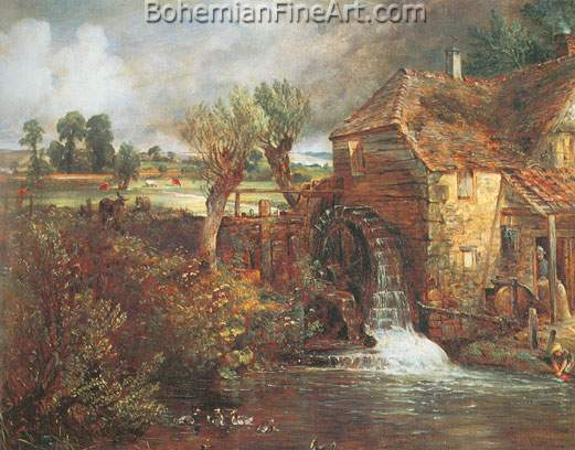 John Constable, Parham Mill+ Gillingham Fine Art Reproduction Oil Painting