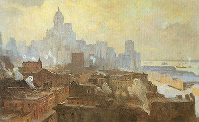 Colin Campbell Cooper, Mountains of Manhattan Fine Art Reproduction Oil Painting