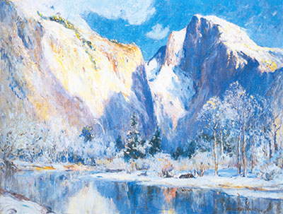 Colin Campbell Cooper, Half Dome+ Yosemite Fine Art Reproduction Oil Painting