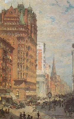 Colin Campbell Cooper, Fifth Avenue+ N.Y.C. Fine Art Reproduction Oil Painting