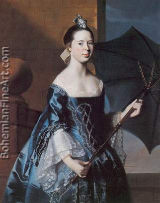 John Singleton Copley, Mrs Benjamin Pickman Fine Art Reproduction Oil Painting