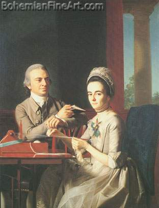 John Singleton Copley, Governor and Mrs Thomas Mifflin Fine Art Reproduction Oil Painting