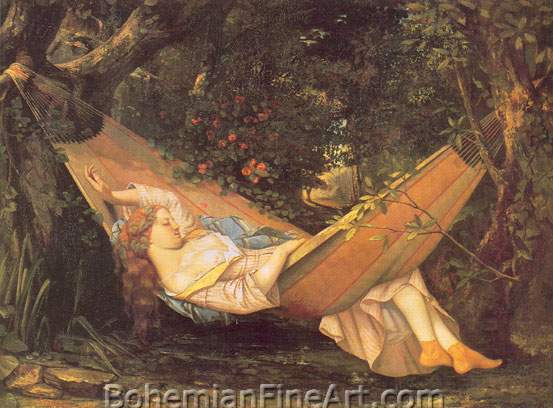 Gustave Courbet, The Hammock Fine Art Reproduction Oil Painting