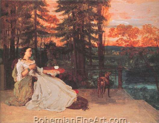 Gustave Courbet, The Lady of Frankfurt Fine Art Reproduction Oil Painting