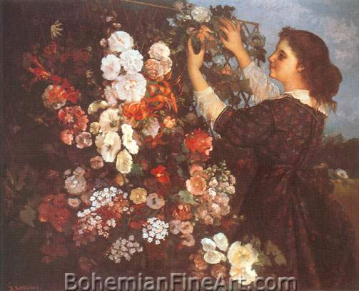 Gustave Courbet, The Trellis Fine Art Reproduction Oil Painting