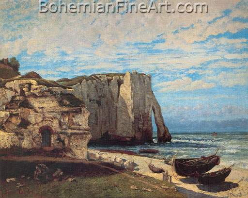 Gustave Courbet, The Cliff at Etretat after the Storm Fine Art Reproduction Oil Painting