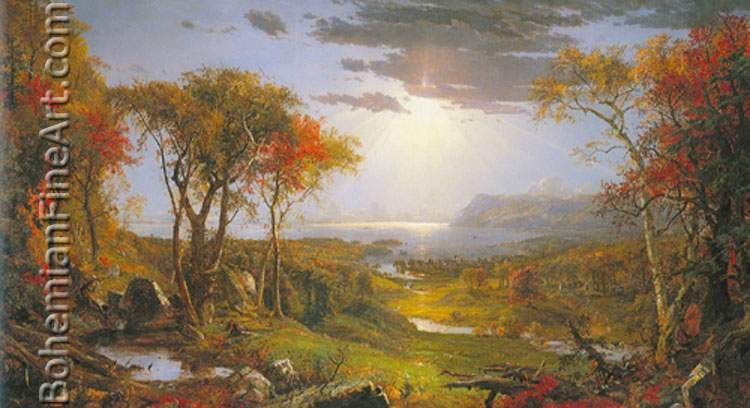 Jasper Francis Cropsey, Autumn on the Hudson River Fine Art Reproduction Oil Painting