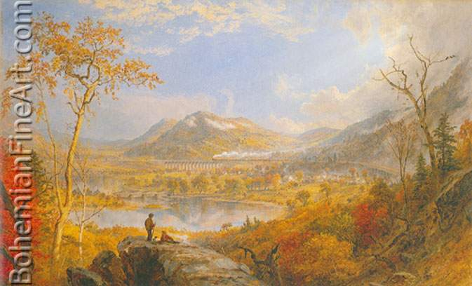 Jasper Francis Cropsey, Starrucca Viaduct Fine Art Reproduction Oil Painting