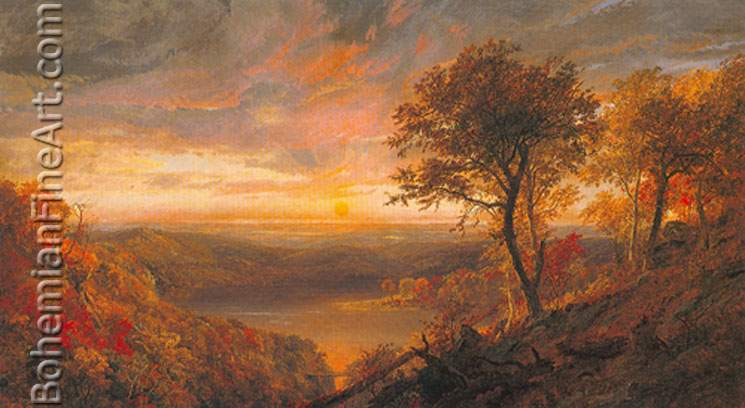 Jasper Francis Cropsey, Greenwood Lake Fine Art Reproduction Oil Painting