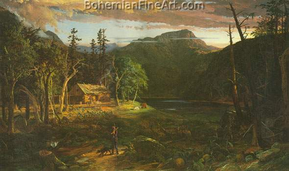 Jasper Francis Cropsey, The Backwoods of America Fine Art Reproduction Oil Painting
